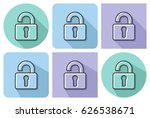 outlined icon of unlocked... | Shutterstock .eps vector #626538671