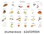 spices vector set | Shutterstock .eps vector #626539004