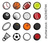 vector play sport balls logo... | Shutterstock .eps vector #626540744