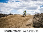 the motorcycle rider driving on ... | Shutterstock . vector #626541041
