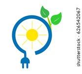 solar power icon | Shutterstock .eps vector #626542067