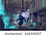 sci fi concept of the... | Shutterstock . vector #626543207