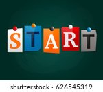 the word start made from... | Shutterstock .eps vector #626545319