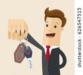 businessman hold a key of new... | Shutterstock .eps vector #626547515