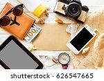 summer travel planning vacation ...   Shutterstock . vector #626547665