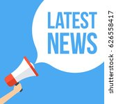 latest news megaphone banner | Shutterstock .eps vector #626558417