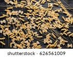 pasta textured background.... | Shutterstock . vector #626561009