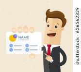 businessman with visiting card... | Shutterstock .eps vector #626562329