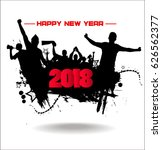new year 2018. banner.  | Shutterstock .eps vector #626562377