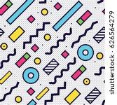 seamless pattern in 90 80 style ... | Shutterstock .eps vector #626564279