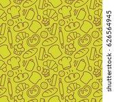 bakery seamless pattern... | Shutterstock .eps vector #626564945
