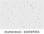 vector set of realistic water... | Shutterstock .eps vector #626569301
