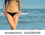 beautiful sexy blond girl in a... | Shutterstock . vector #626569634
