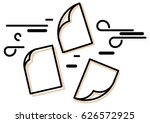 pages floating in air icon | Shutterstock .eps vector #626572925