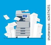 office multifunction printer... | Shutterstock .eps vector #626574251