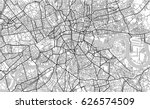 vector map of the city of... | Shutterstock .eps vector #626574509