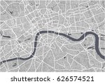 vector map of the city of... | Shutterstock .eps vector #626574521