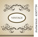 vintage frame for design card....   Shutterstock .eps vector #62657734
