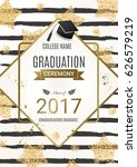graduation ceremony design with ... | Shutterstock .eps vector #626579219