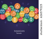 ramadan kareem background. eid... | Shutterstock .eps vector #626579225