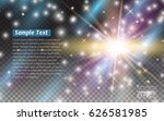 glowing lights effects isolated ... | Shutterstock .eps vector #626581985