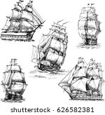 hand drawn vector set of... | Shutterstock .eps vector #626582381