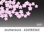 pink sakura flowers petals.... | Shutterstock .eps vector #626583365