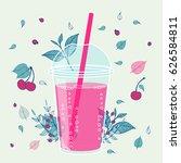 smoothie design in hand drawn...   Shutterstock .eps vector #626584811