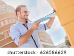 handsome smiling businessman... | Shutterstock . vector #626586629