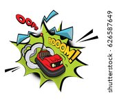 Crazy Bumper A Car Vector...