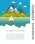 blank for text. summertime... | Shutterstock .eps vector #626588201