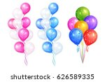 bunches of colorful helium... | Shutterstock .eps vector #626589335