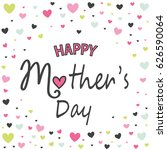mother's day greeting card | Shutterstock .eps vector #626590064