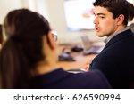 business team having a meeting | Shutterstock . vector #626590994