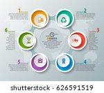 vector abstract 3d paper... | Shutterstock .eps vector #626591519