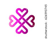 love and care  logo | Shutterstock .eps vector #626593745