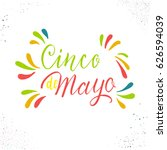 cinco de mayo. hand drawn... | Shutterstock .eps vector #626594039