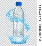 transparent water crown and... | Shutterstock .eps vector #626594651