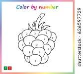 raspberries   painting page ... | Shutterstock .eps vector #626597729