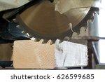 circular saw cutting wooden... | Shutterstock . vector #626599685