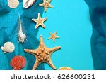 marine blue background with... | Shutterstock . vector #626600231