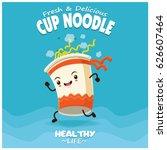 vintage cup noodle poster... | Shutterstock .eps vector #626607464