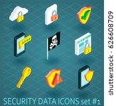 vector collection of cyber... | Shutterstock .eps vector #626608709