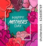 vector mothers day gift card....   Shutterstock .eps vector #626608769