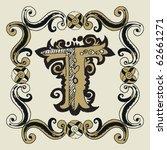 naive baroque alphabet  hand... | Shutterstock .eps vector #62661271