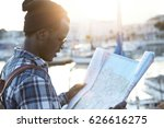 youth and travel concept. half... | Shutterstock . vector #626616275