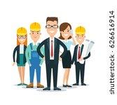 flat building team behind...   Shutterstock .eps vector #626616914