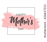 mother's day greeting card... | Shutterstock .eps vector #626617211