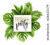 summer tropical leaf background ... | Shutterstock .eps vector #626622179