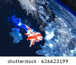 united kingdom with embedded... | Shutterstock . vector #626623199